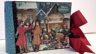 Made a 6 x 4 mini album with the beautiful A Christmas Carol collection from Graphic 45 and I filmed it when I made it so there is a one part  start to finish video on how to make it,Here is the link,https://www.youtube.com/watch?v=dVvodlK_cUMThis album can be used for small photos or cut outs from larger photos on the pages or the tags.And here is the link to my blog for close up pictures, templates and measurements,http://www.annespapercreations.com/2015/12/how-to-make-6x4-pocket-mini-album-from.htmlSupply list:A Christmas Carol collection from Graphic 45,1 mm chipboard,Black cardstock, vinyl,glue,pop dots,ribbon,score board and something to cut with.Regarding questions there is a video where frequently asked questions from You Tube, Blog,Mail and messages are are answered. Here is the link,http://www.youtube.com/watch?v=qgsJnzDCHkA For other questions please visit my blog where I will post new questions that has not been answered before.Here is the link,http://www.annespapercreations.com/p/frequently-asked-questions.htmlWish you all a wonderful Christmas and all the best wishes for the new year :-)Hugs, Anne