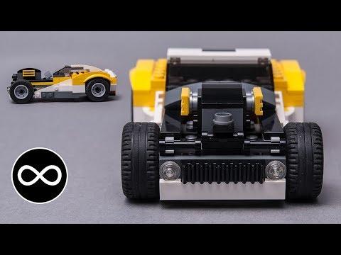 LEGO MOC speed build - Rat rod from Creator 31046 set