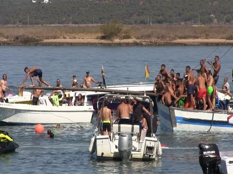 Cucaña, Natación, Carrera de Botes y Sardinada Fiestas Virgen del Mar 2019 Punta del Caimán
