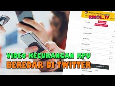 Video Kecurangan KPU Beredar Di Twitter