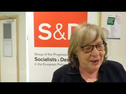 Elena Gentile parlamentare europeo del Partito Democratico nell'evento di presentazione di Be Aware