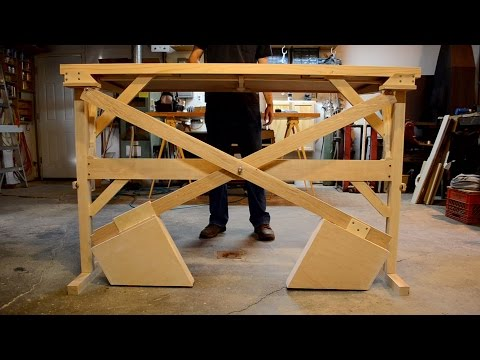 Scott Rumschlag Wooden Standing Desk or Table