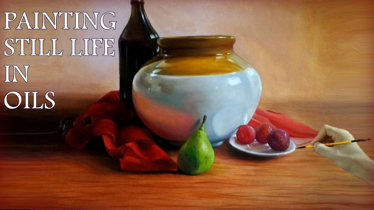 still life oil painting time lapse tutorial