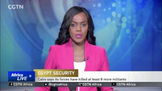 Egyptian police say they have killed at least eight more militants in an operation south of the capital, Cairo. Authorities clashed ...