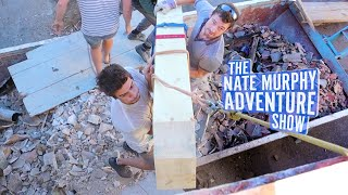 GETTING THE 300KG BEAM ONTO THE ROOF ⚠️👷 & Dei's Garden Update  |  NMAS 31 by Nate Murphy