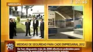SECURITAS PERÚ - ENLACE EN DIRECTO DESDE EL CADE 2012 EN AREQUIPA CON CANAL N (NOVIEMBRE 2012)