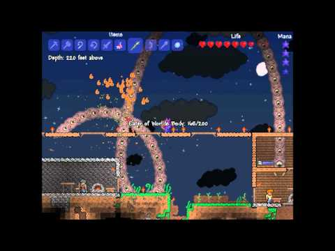 preview-Let\'s Play Terraria 3! - 003 - 2nd boss fight, Eater of Worlds (ctye85)