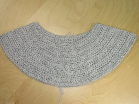 Crochet Yoke of a top down sweater