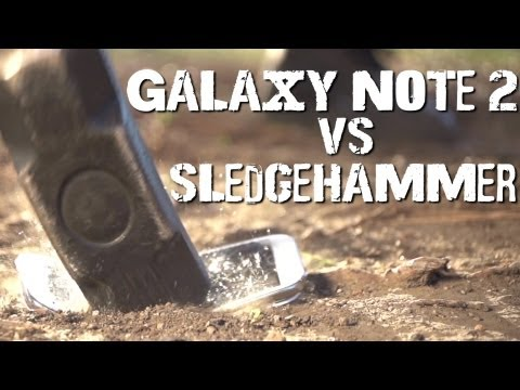 Galaxy Note 2 vs Sledgehammer + Giveaway (S4 / iPhone 5)