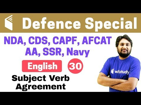 7 00 PM NDA CDS CAPF AFCAT 2018 English By Harsh Sir Subject Verb Agreement