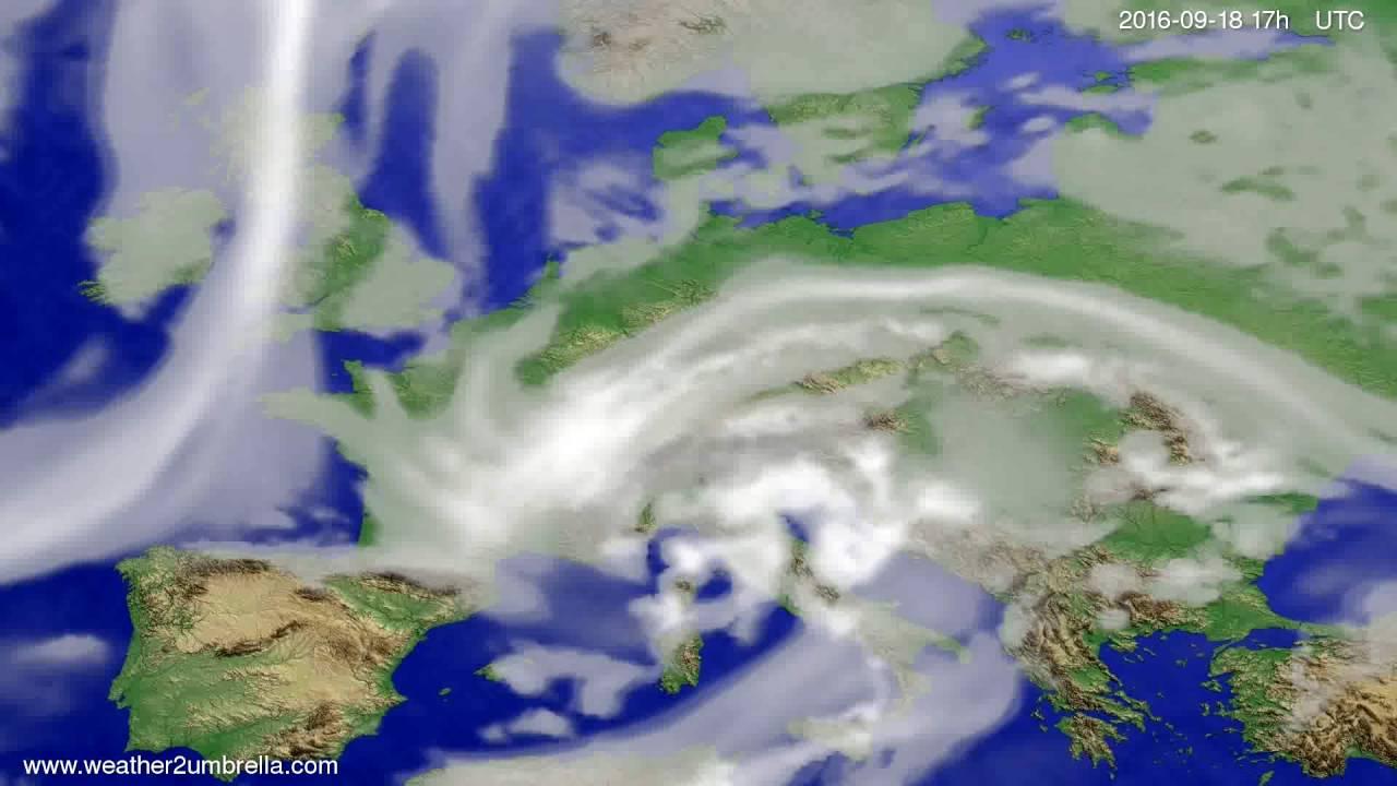 Cloud forecast Europe 2016-09-16