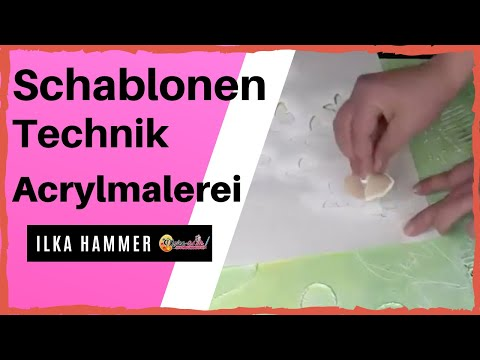 Acrylmalerei für Anfänger – Schablonentechnik aus Gratis-Videokurs – Acrylmalerei für Anfänger …