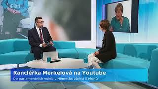 Kancléřka Merkelová na YouTube