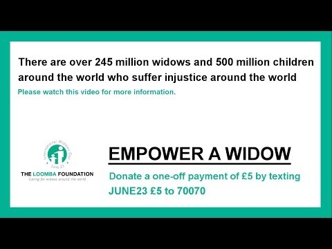 Appeal for Widows 2013