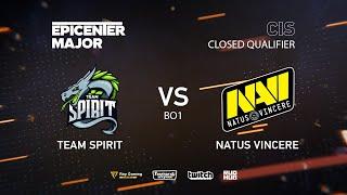 Team Spirit vs Natus Vincere, EPICENTER Major 2019 CIS Closed Quals , bo1 [Adekvat & Smile]
