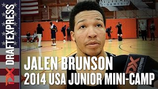 2014 Jalen Brunson Interview - DraftExpress - USA Mens Junior Team Mini-Camp