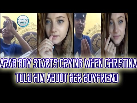 Arab Boy Starts Crying When Christina Told Him About Her Boyfriend New Video 2016