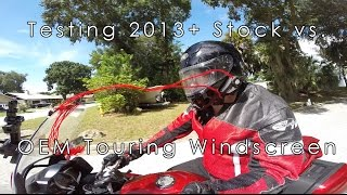 9. Yamaha FJR 1300 Stock vs Touring Windscreen Windshield Airflow Comparison