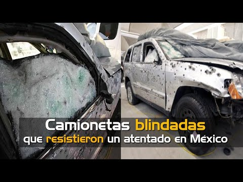 Camionetas blindadas que resistieron un atentado en México