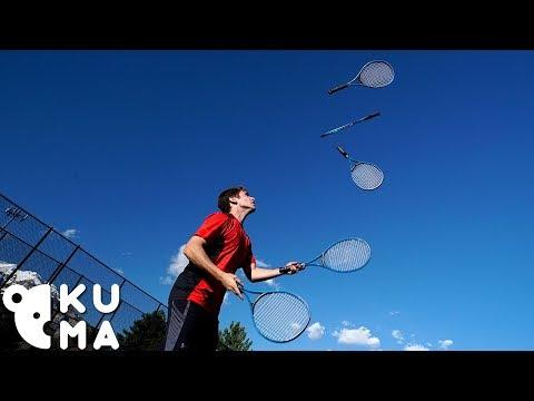Amazing Tennis Juggling Skills