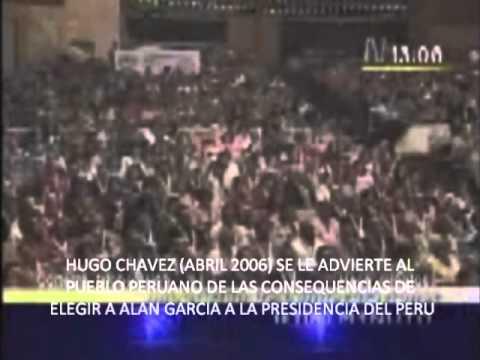 A ver si voy a una cumbre y me roba este billete  -Hugo Chavez vs Alan Garci...