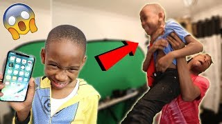 9 Year Old Kid Tries To Steal My iPhone X.. (I caught him)