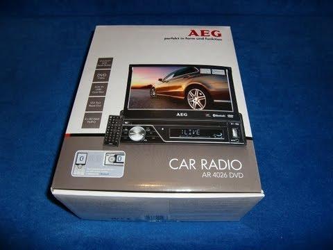 AEG AR 4026 DVD CD USB LCD Moniceiver Autoradio carradio Radio unboxing short intro