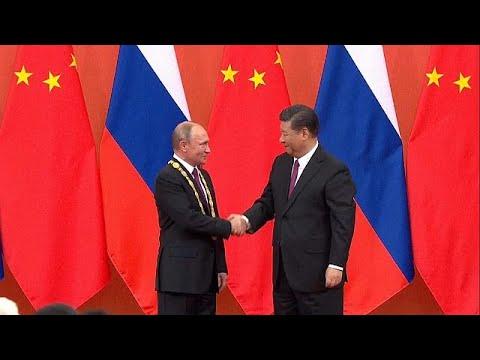 Russlands Präsident Wladimir Putin ist zu Gast in Pek ...