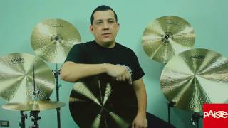 """Jerry Buitre explains why he chooses Paiste Cymbals! When he's on tour with """"Los Buitres"""", his Signature Dark Energy's cut above the mix & withstand his genre's intensity when it comes time to execute. Jerry uses 14"""" Signature Dark Energy MKI Hats, 15"""" & 17"""" Signature Crashes, 18"""" & 19"""" Signature Dark Energy MK I Crashes, and his 20"""" Signature Dark Energy MKI Ride. Discover why Jerry Buitre plays the best sounding cymbals in the world!Jerry Buitre explica porque usa platillos Paiste! Cuando esta de gira con su grupo """"Los Buitres"""", el sonido de sus Signature Dark Energy's sobre todo resisten la intensidad cuando llega tiempo de ejecutar. Jerry usa una combinacion de 14"""" Signature Dark Energy Marca I Hi-Hats, 15"""" y 17"""" Signature crashes, 18"""" y 19"""" Signature Dark Energy Marca I crashes, y su 20"""" Signature Dark Energy Ride Marca I. Descubre porque Jerry Buitre elige los mejores platillos del mundo!Jerry's setup:- 14"""" Dark Energy Hi-Hats Mark I- 18"""" Dark Energy Crash Mark I- 19"""" Dark Energy Crash Mark I - 15"""" Signature Fast Crash- 17"""" Signature Fast Crash- 20"""" Dark Energy Ride Mark I"""