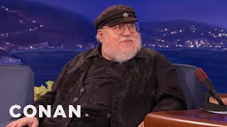 "CONAN Highlight: Martin writes his ""Game of Thrones"" books on Wordstar 4.0, a program last popular when Duran Duran was ..."