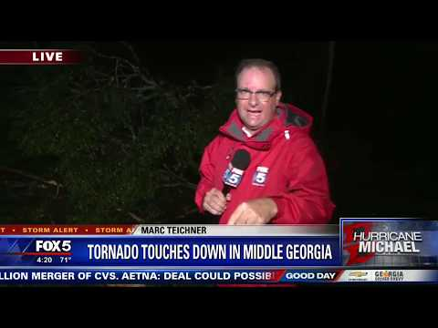 Apparent tornado touches down in middle Georgia