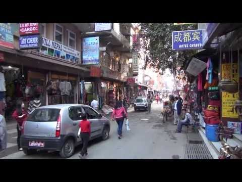 www.tnepal.com - Just a few streets of Thamel in central Kathmandu.