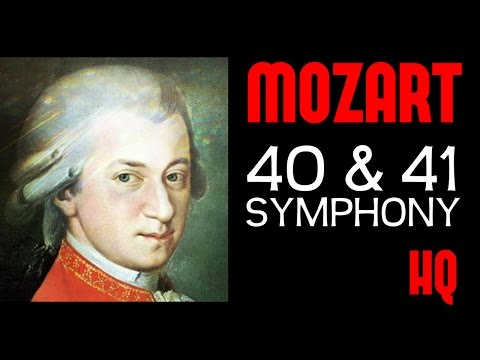 Wolfgang Amadeus Mozart - Symphony 40 & 41(1 Hour Classical Music) [Full Recording HQ]