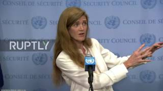 US Hypocrite Samantha Power is outraged and lies AGAIN