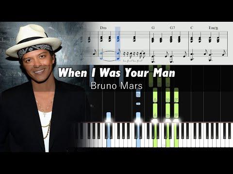 Bruno Mars - When I Was Your Man - Piano Tutorial + SHEETS (видео)