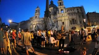 PiazzaNavona夜のナヴォーナ広場ジャン・ロレンツォ・ベルニーニ噴水