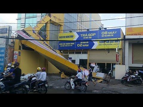 lốc xoáy hiện đột ngột tại TPHCM