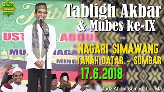 Video Tabligh Akbar Nagari Simawang (Tanah Datar, 17.6.2018) - Ustadz Abdul Somad, Lc.,  MA. MP3, 3GP, MP4, WEBM, AVI, FLV Juni 2018