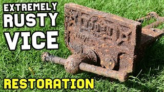EXTREMELY RUSTY VISE RESTORATION