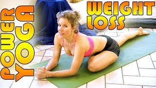 Beginners Power Yoga For Weight Loss - Total Body Workout - 45 Minute Yoga Class - YouTube
