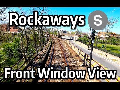 ⁴ᴷ⁶⁰ NYC Subway Front Window View - The Rockaway Shuttle from Far Rockaway to Rockaway Park and Back