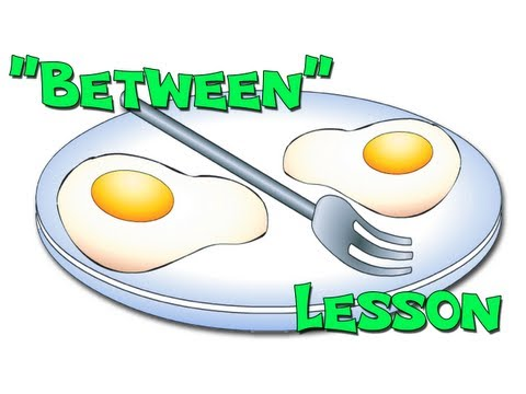 between preposition lesson