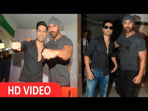 John Abraham & Varun Dhawan At Launch Of New Jingle