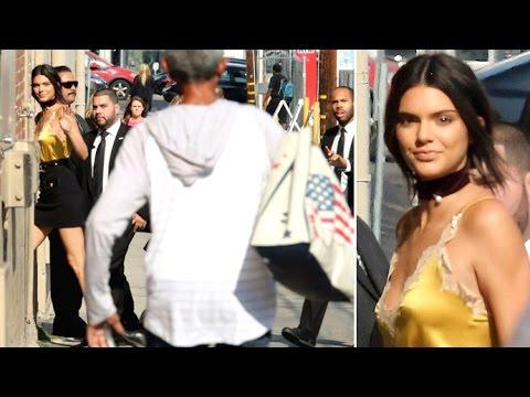 Crazed Fan Runs Towards Kendall Jenner As She Arrives At Jimmy Kimmel