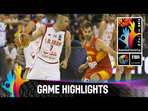 Iran - Watch the game highlights of Iran v Spain. The 2014 FIBA Basketball World Cup will take place in Spain from 30 August - 14 September and will feature the best international players from all...