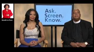 Rev. Run & Vanessa Simmons with Meredith Hurston ASK. SCREEN. KNOW TM