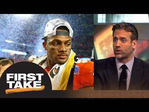 Max says Deshaun Watson reason Clemson lost to Alabama | First Take | ESPN (видео)