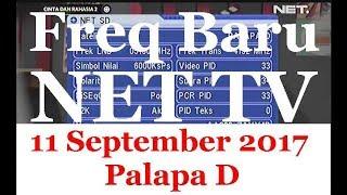 Freq Baru NET TV SD 11 September 2017 Palapa D (no signal)