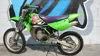 9. 1997 Kawasaki KX100 two stroke Motorcycle For Sale ... GREEN Sticker!!