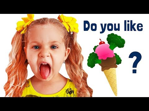 Do You Like Broccoli Ice Cream? Nursery Rhymes songs with Roma and Diana